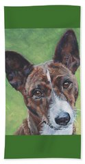 Basenji Dog Painting Beach Towel