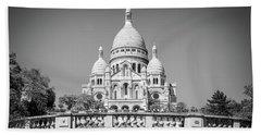 Basilica Of The Sacred Heart In Paris Beach Towel