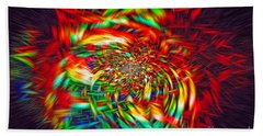 Beach Towel featuring the photograph Basket Of Color by Geraldine DeBoer