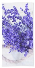 Basket Of Lavender Beach Sheet