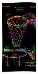 Basketball Goal Vintage Patent 1924 Beach Towel