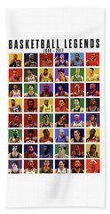 Basketball Legends Beach Towel by Semih Yurdabak