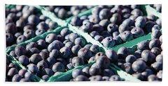 Baskets Of Blueberries Beach Sheet by Todd Klassy
