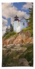 Bass Harbor Light Beach Towel