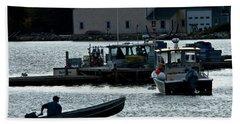Bass Harbor Lobsterman Skif Beach Sheet
