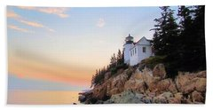 Bass Harbor Sunset II Beach Towel