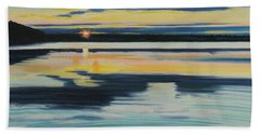 Bass Lake Sunset Beach Towel