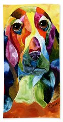 Basset Hound Blues Beach Towel