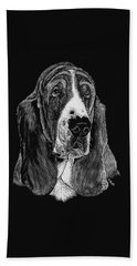 Basset Hound Beach Sheet by Rachel Hames