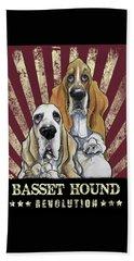 Basset Hound Revolution Beach Towel