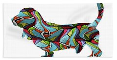 Basset Hound Spirit Glass Beach Towel