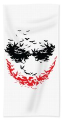 Bat Face Beach Towel