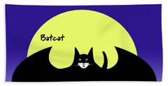 Batcat Beach Towel