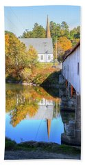 Bath Covered Bridge Beach Towel