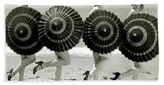 Bathing Beauties With Parasols Beach Towel