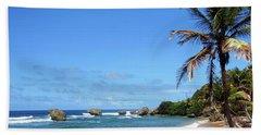 Beach Towel featuring the photograph Bathsheba, Barbados, by Kurt Van Wagner