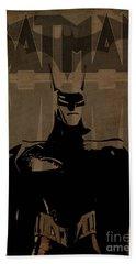 Batman Brown - Logo Bat Beach Sheet by Prar Kulasekara