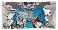 Batman Incorporated Beach Towel