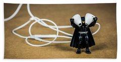 Batman Likes Music Too Beach Sheet