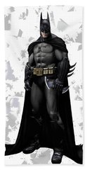 Beach Towel featuring the mixed media Batman Splash Super Hero Series by Movie Poster Prints