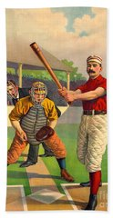 Batter Up 1895 Beach Towel