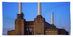 Beach Towel featuring the photograph Battersea Power Station by Stewart Marsden