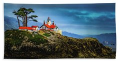 Battery Point Lighthouse Beach Towel by Janis Knight