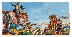 Battle Of Agincourt Beach Towel