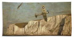 Battle Of Britain Over Dover Beach Towel