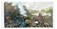 Battle Of Franklin - Civil War Beach Towel