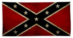Battle Scarred Confederate Flag Beach Sheet