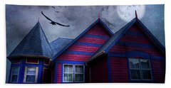 Beach Towel featuring the photograph Battle Street West by Theresa Tahara
