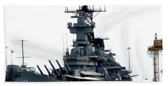 Battleship New Jersey Beach Towel