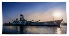 Beach Towel featuring the photograph Battleship New Jersey by Marvin Spates