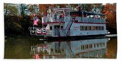 Beach Sheet featuring the photograph Bavarian Belle Riverboat by LeeAnn McLaneGoetz McLaneGoetzStudioLLCcom
