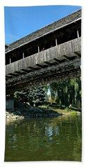 Beach Sheet featuring the photograph Bavarian Covered Bridge by LeeAnn McLaneGoetz McLaneGoetzStudioLLCcom