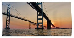 Bay Bridge  Beach Towel