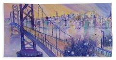 Bay Bridge San Francisco Beach Towel