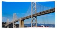 Bay Bridge With Apl Houston Beach Towel