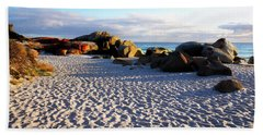 Bay Of Fires Sunrise Beach Towel by Lexa Harpell