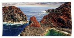 Bay Of Ponta Da Barca Beach Towel by Anthony Dezenzio