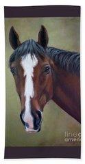 Bay Thoroughbred Horse Portrait Ottb Beach Sheet