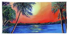 Beach Towel featuring the painting Baycrest by Ecinja Art Works