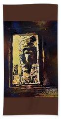 Beach Sheet featuring the painting Bayon IIi- Cambodian Ruins, Angkor Wat by Ryan Fox