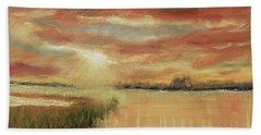 Bayou Sunrise Beach Towel by Barry Jones