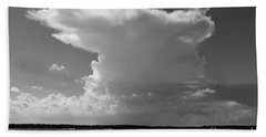 Bayshore Thunderhead In Bw Beach Towel