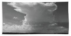 Bayshore Thunderhead In Bw Beach Sheet by Mary Haber