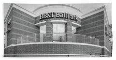 Bbt Ballpark Building Beach Towel