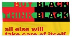 Be Black Rbg Beach Towel