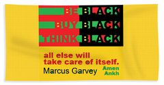Be Black Rbg Beach Towel